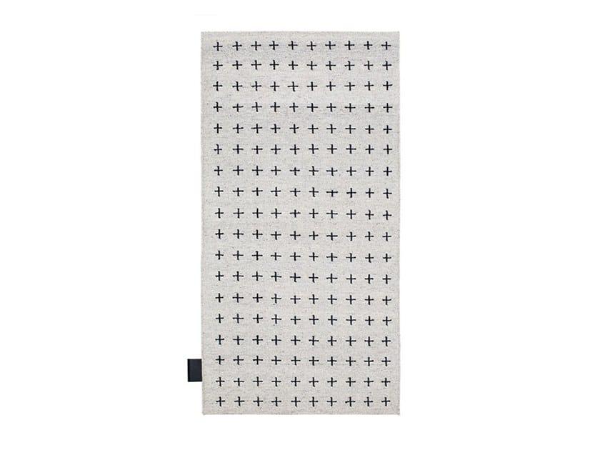 Patterned rectangular wool rug STITCH by ASPLUND