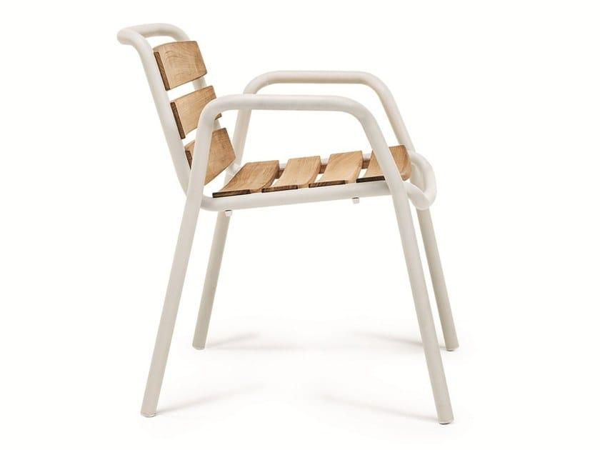 Stackable teak garden chair STITCH | Teak chair by Ethimo