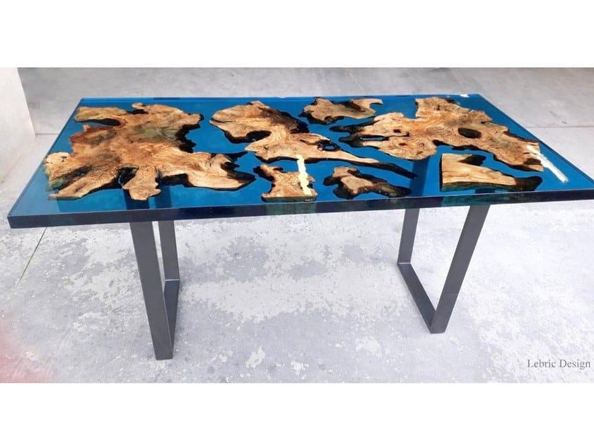 Tavolo in resina e radica di ulivo STOCCOLMA | Tavolo in resina by ANTICO TRENTINO