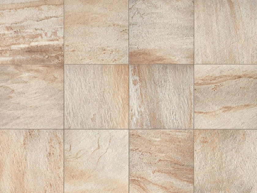 Full-body porcelain stoneware wall/floor tiles with stone effect STONE D Quarzite Dorada by Italgraniti