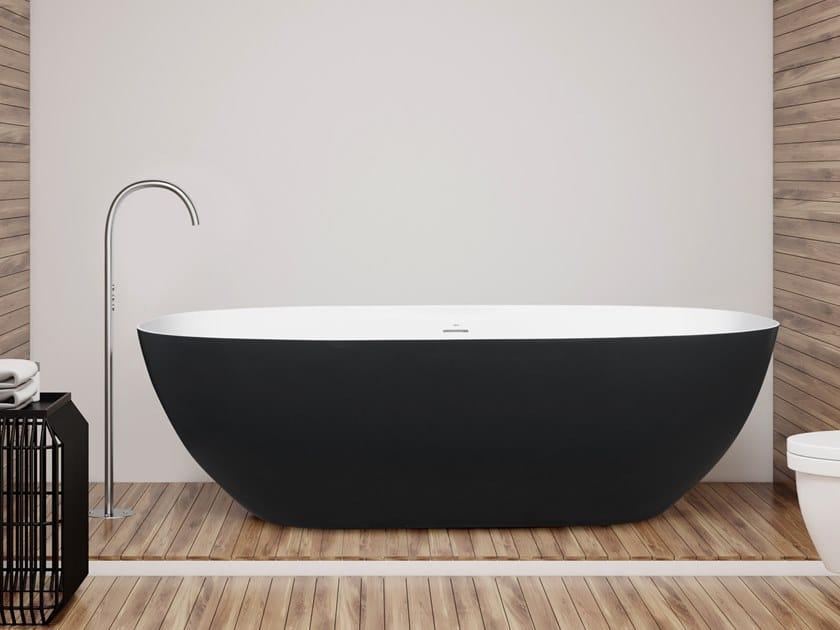 Oval Cristalplant® bathtub STONE EVO | Bathtub by AQUAdesign