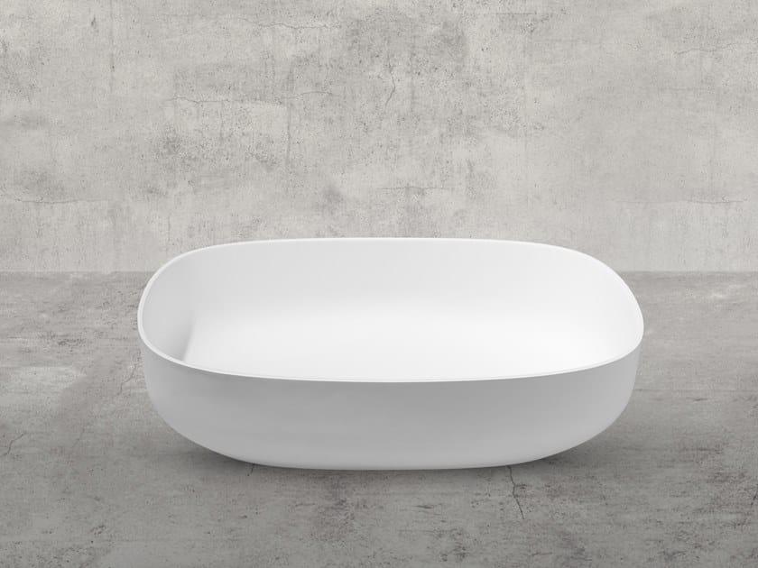Oval Cristalplant® washbasin STONE EVO | Washbasin by AQUAdesign