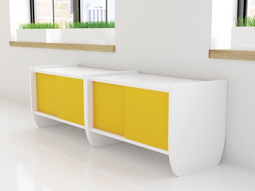 Mobile Ufficio Con Ante Scorrevoli.Stone Furniture Mobile Ufficio Basso By Fercia
