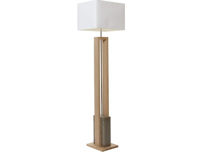 Wooden floor lamp STONE by Flam & Luce