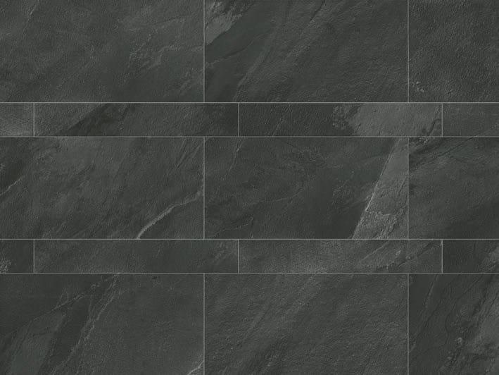 Full-body porcelain stoneware wall tiles / flooring STONE PLAN Lavagna Nera by Italgraniti