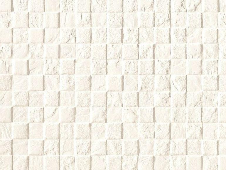 Mosaico in ceramica a pasta bianca STONE PLAN WALL Bianco by Impronta Ceramiche