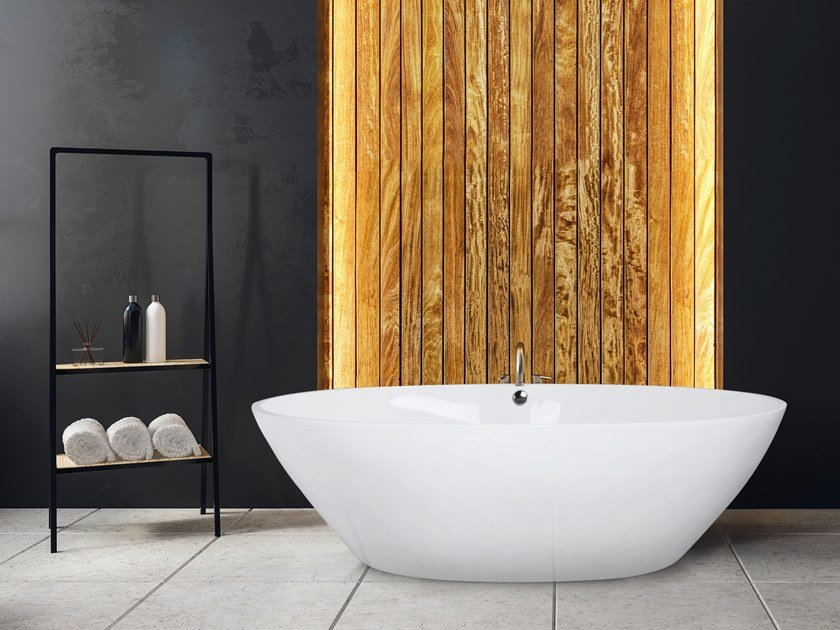 Vasca da bagno centro stanza ovale STONE ONE SMALL by AQUAdesign