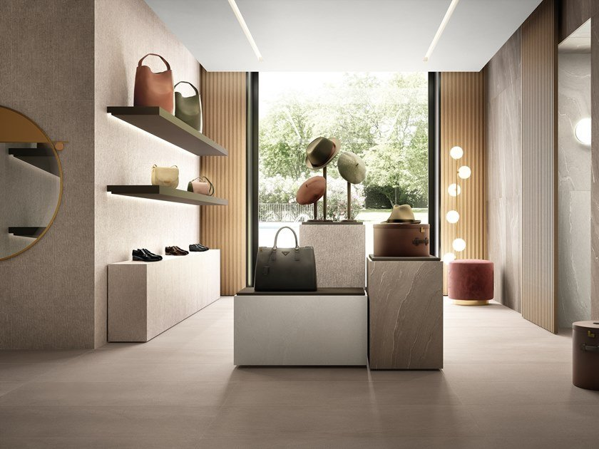 Porcelain stoneware wall/floor tiles with stone effect STONE TALK SAND by Ergon by Emilgroup