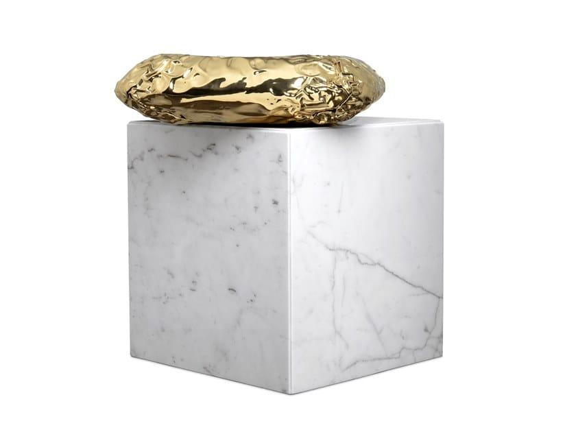 Tavolino quadrato in marmo di Carrara STONEHENGE CARRARA by Boca do Lobo