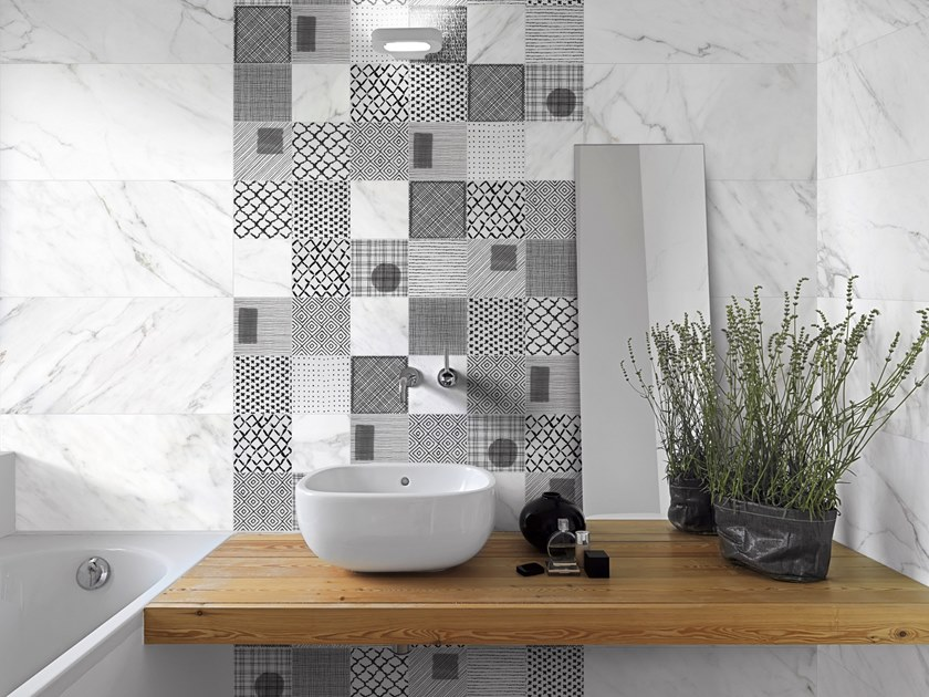 Glazed stoneware wall/floor tiles with marble effect STONEMARBLE by Terratinta Ceramiche