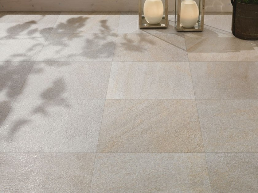 Indoor/outdoor porcelain stoneware flooring with stone effect STONEQUARTZ - NORDIC by COTTO D'ESTE