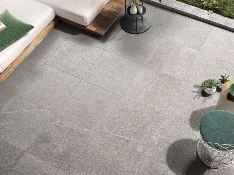 Indoor/outdoor porcelain stoneware flooring with stone effect STONEQUARTZ - OSLO by COTTO D'ESTE