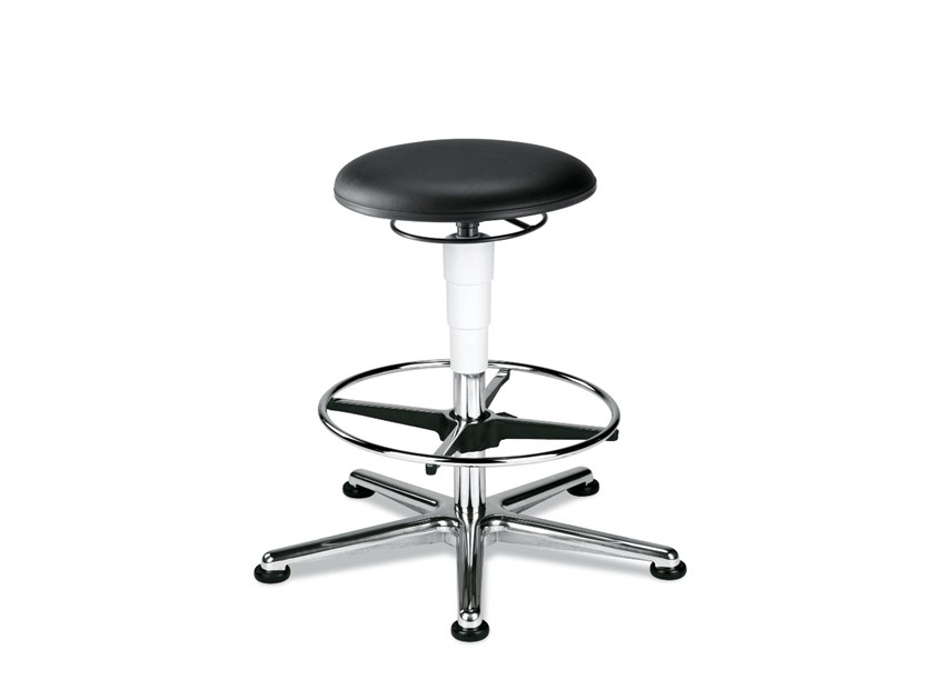 Work stool with 5-Spoke base with footrest STOOL 9469 by bimos
