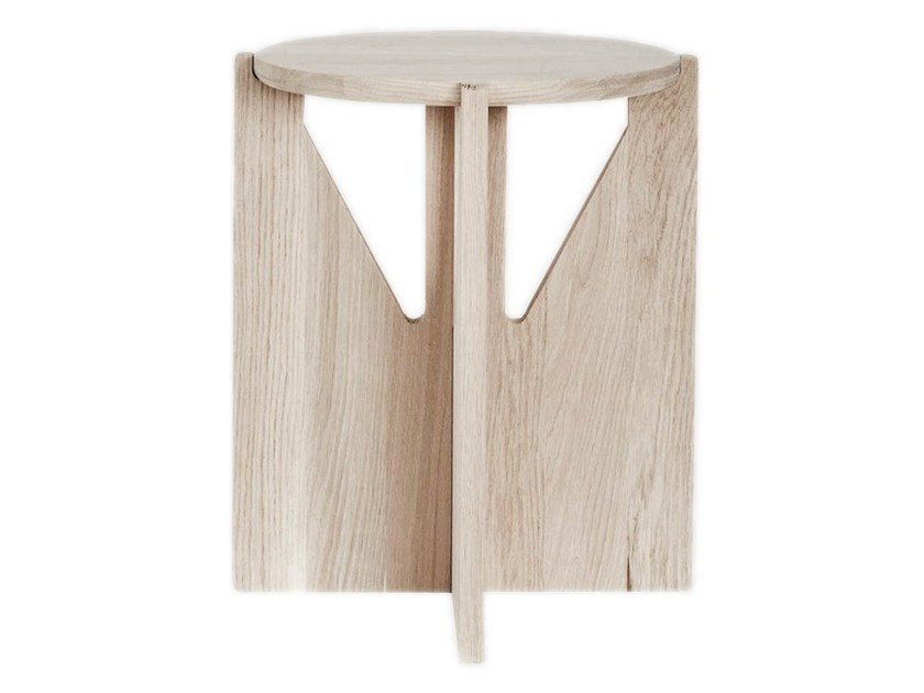 Wooden stool / coffee table Stool by Kristina Dam Studio