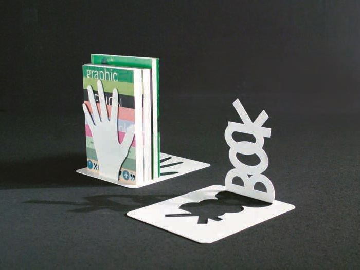 Apoio de livros em aço STOPPER by Caimi Brevetti