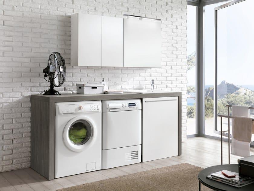 Mobile lavanderia con lavatoio per lavatrice STORE 419 by Gruppo Geromin