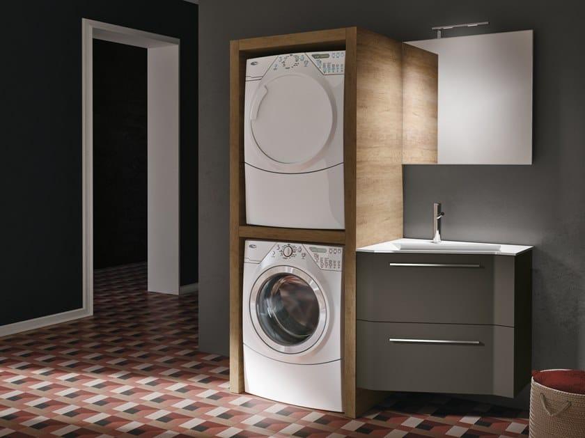 Mobile lavanderia con lavatoio per lavatrice STORE EXCELLENT 404 by Gruppo Geromin