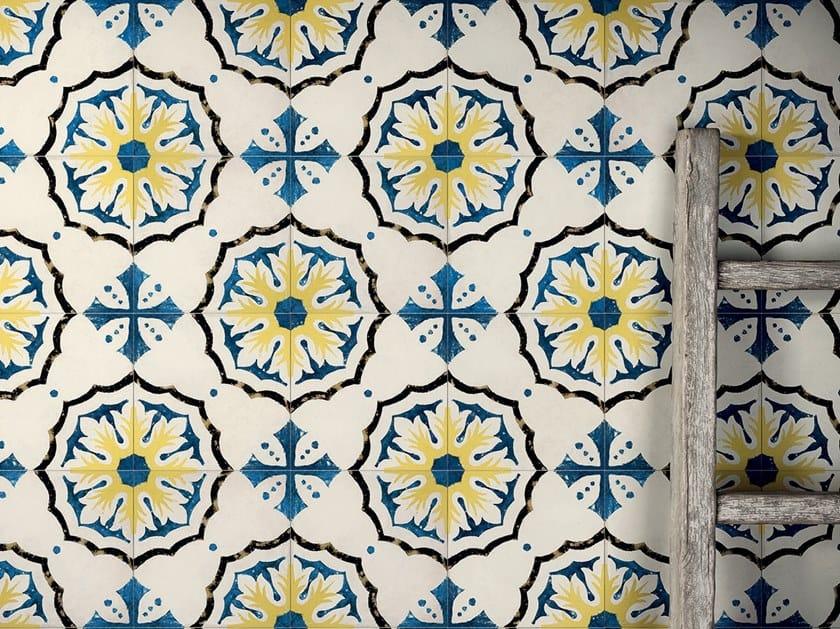 Pavimento/rivestimento in gres porcellanato effetto cementine STORIE D'ITALIA S1 by Marca Corona