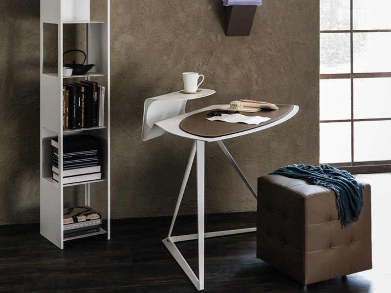 Tanned leather secretary desk STORM by Cattelan Italia