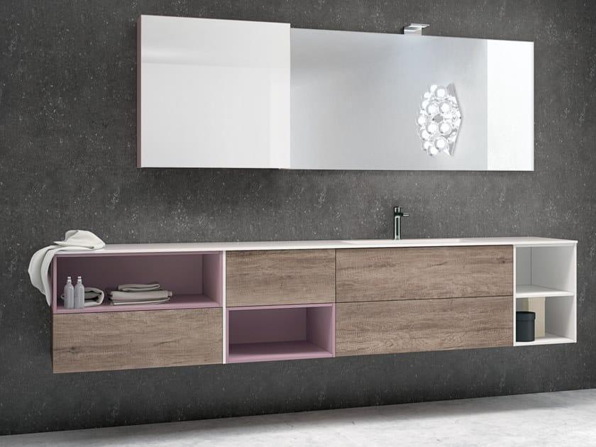 Mobile lavabo sospeso con cassetti STR8 120 By Gruppo
