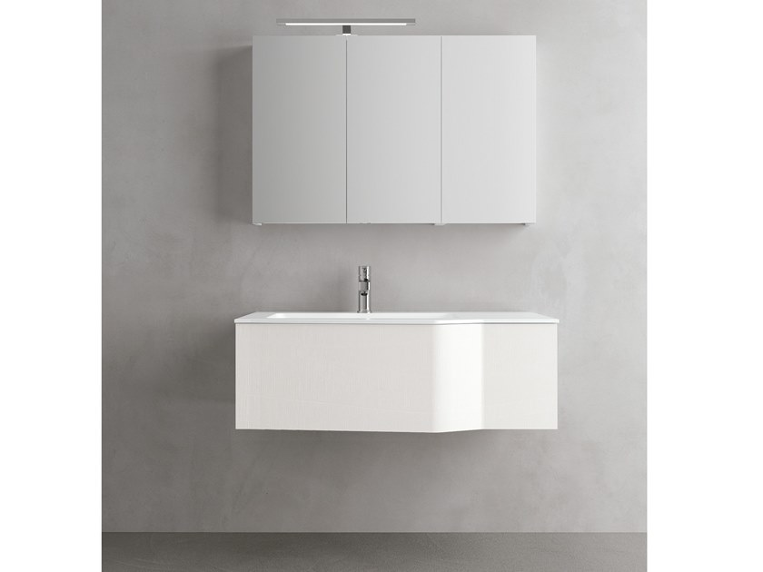 Wall-mounted vanity unit with drawers STR8 306 by Gruppo Geromin
