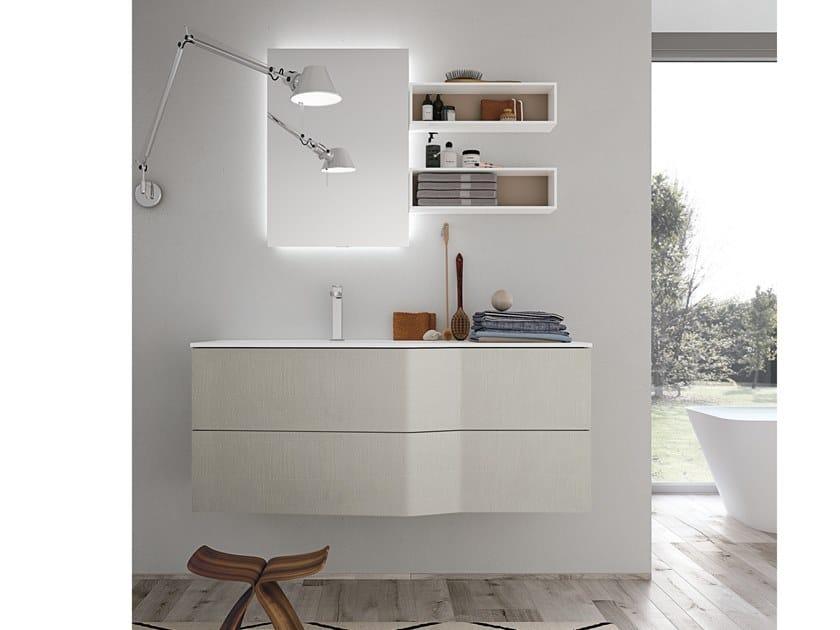 Mobile lavabo sospeso con cassetti STR8 321 Gruppo Geromin