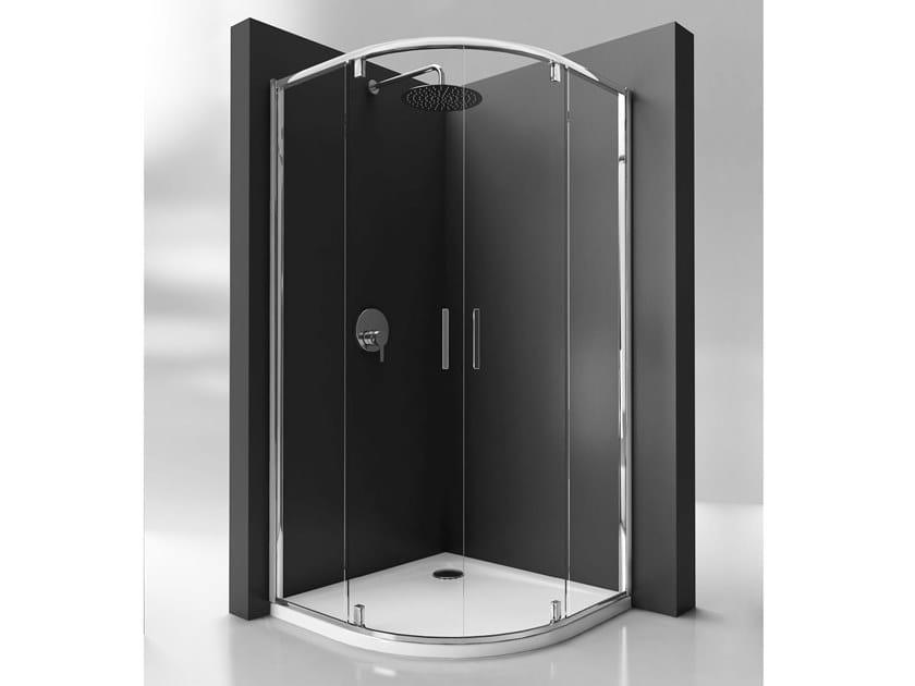 Ideal Standard Box Doccia.Box Doccia Angolare In Vetro Temperato Con Porta Pivotante