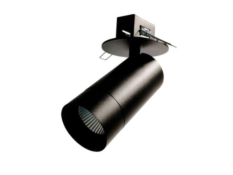 LED semi-inset round aluminium spotlight STRAIGHT IN CF by LED BCN