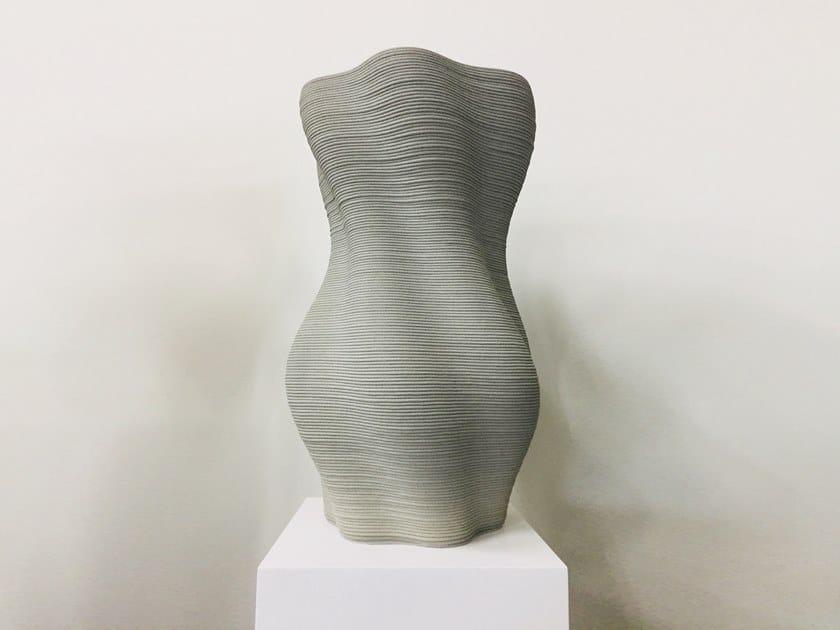 Vaso da giardino alto in calcestruzzo stampato 3d STRAND by Concreative