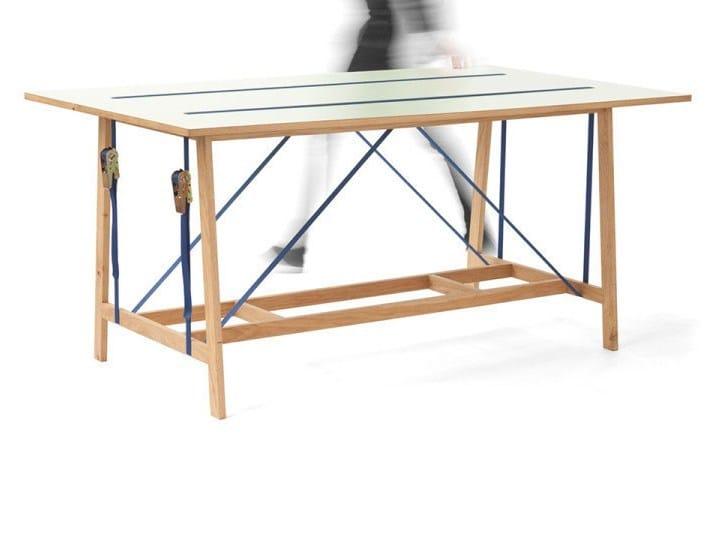 Rectangular HPL table STRAP | Table by Vij5