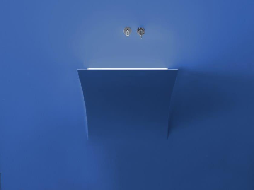 Lavabo a semincasso in Corian® in stile moderno STRAPPO by Antonio Lupi Design