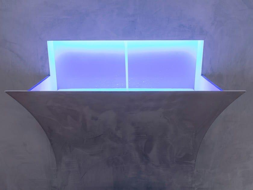 Lavabo a semincasso in Corian® STRAPPO XL by Antonio Lupi Design
