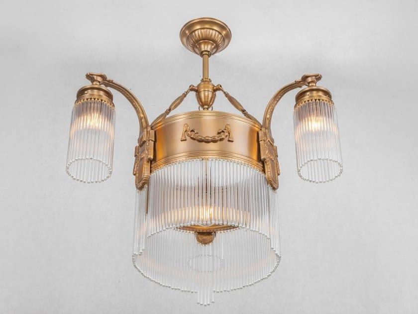 Handmade brass ceiling lamp STRASBOURG | Ceiling lamp by Patinas Lighting