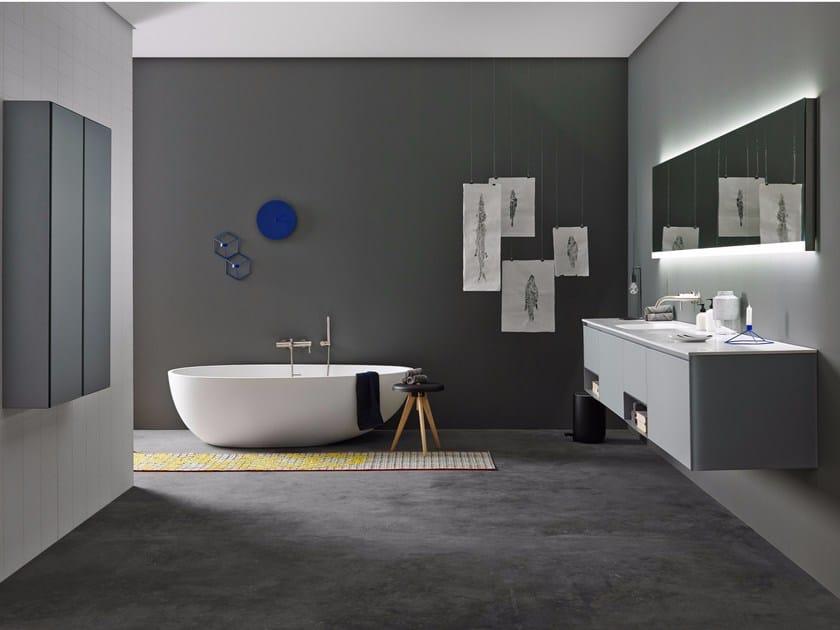 Bathroom furniture set STRATO 02 by INBANI