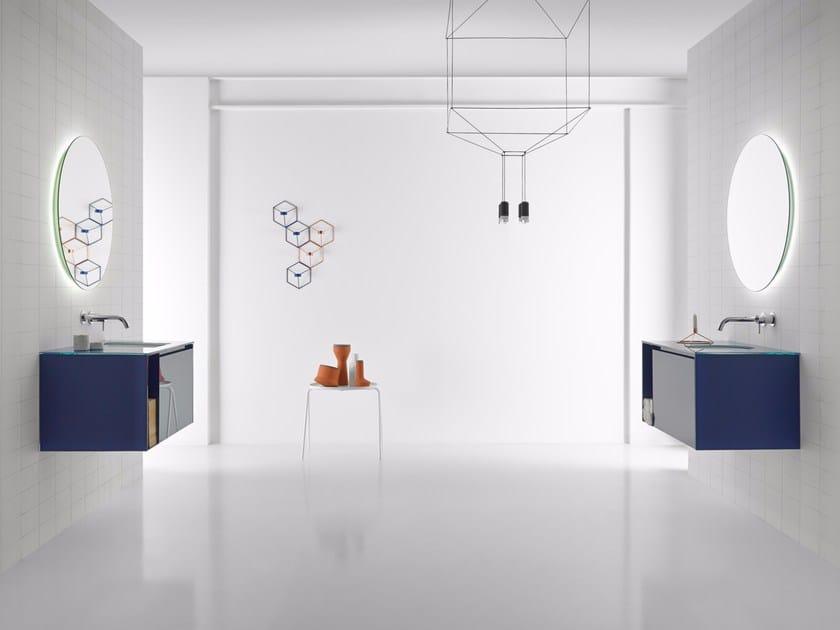 Bathroom furniture set STRATO 05 by INBANI