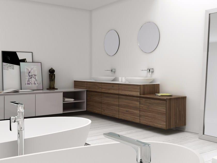Bathroom furniture set STRATO 15 by INBANI