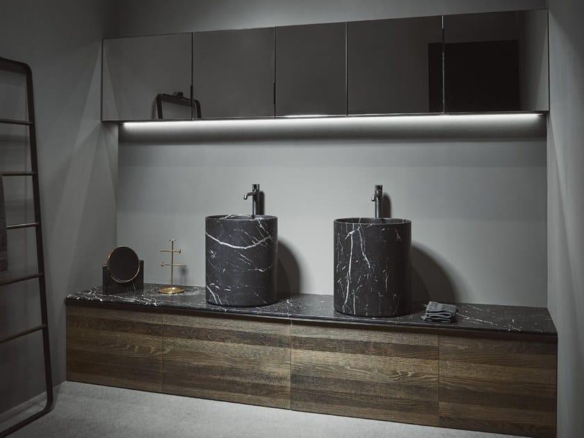 Floor-standing wooden vanity unit STRATO | Floor-standing vanity unit by INBANI