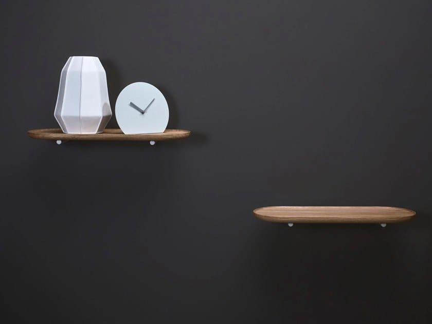 Wooden bathroom wall shelf STRATO | Bathroom wall shelf by INBANI