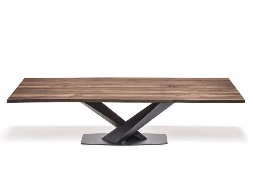Rectangular steel and wood table STRATOS WOOD by Cattelan Italia