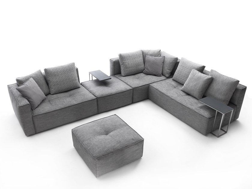 Sectional fabric sofa STRAUSS PIZZICATO by Flexstyle