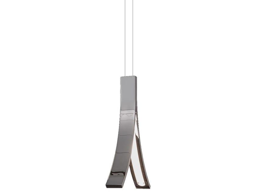 LED direct light metal pendant lamp STREAM H1 by ILFARI