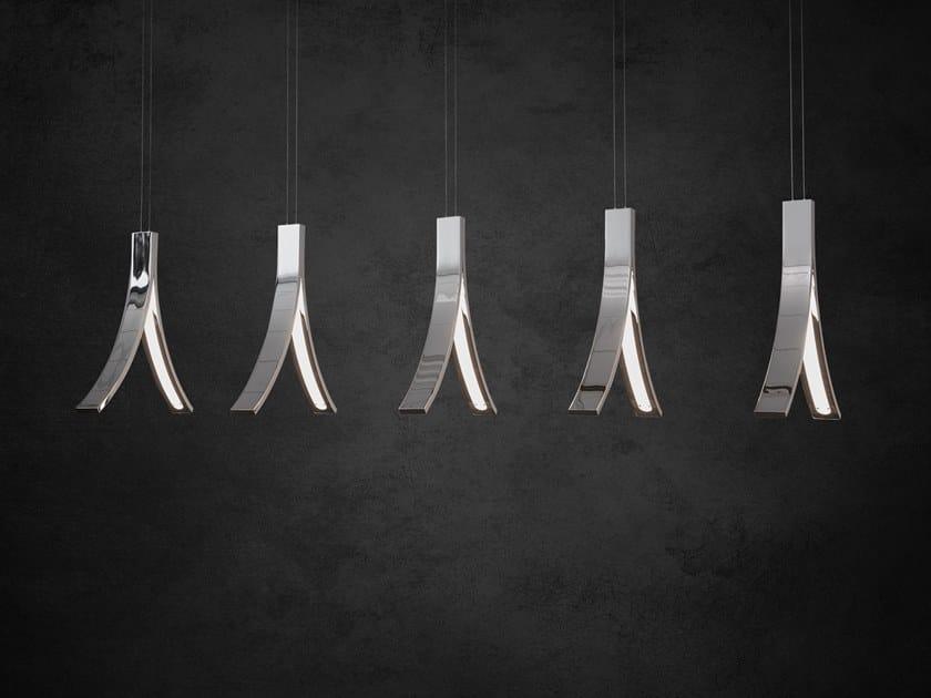 LED direct light metal pendant lamp STREAM H5 XL by ILFARI