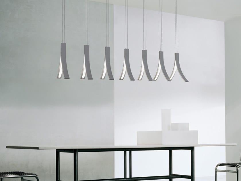 LED metal pendant lamp STREAM H7 XL by ILFARI