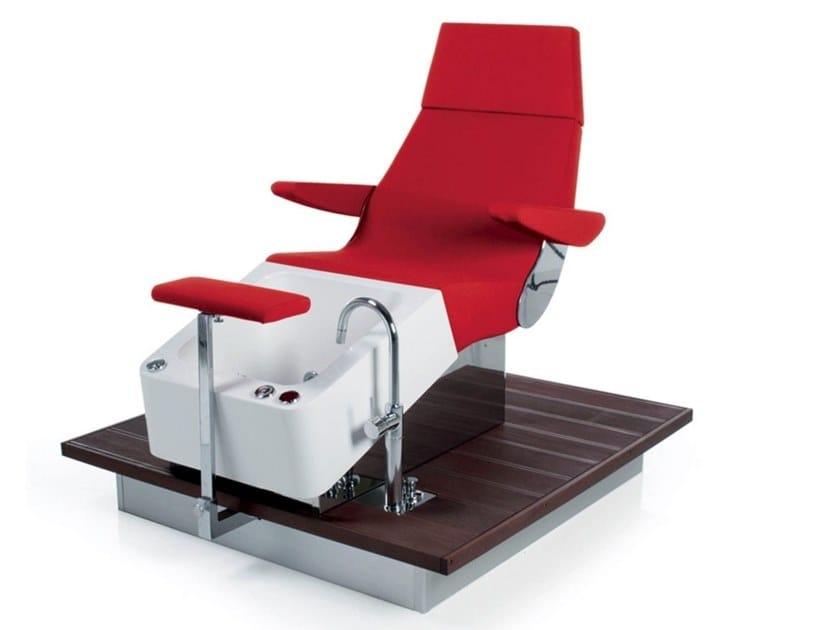 Poltrona massaggiante per pedicure in vinile STREAMLINE DECK SHIATSU by Gamma & Bross