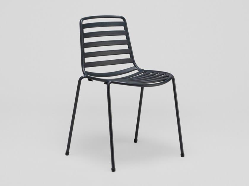 Stackable steel garden chair STREET   Chair by ENEA