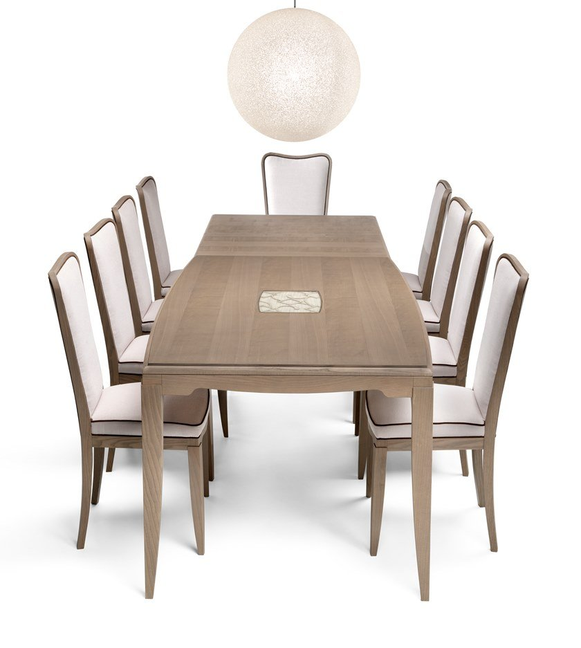 Extending rectangular ash table STREET | Rectangular table by MOLETTA