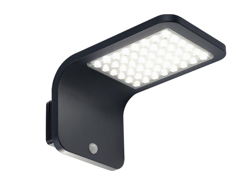 LED Solar Powered die cast aluminium Outdoor wall Lamp STREET by SOVIL