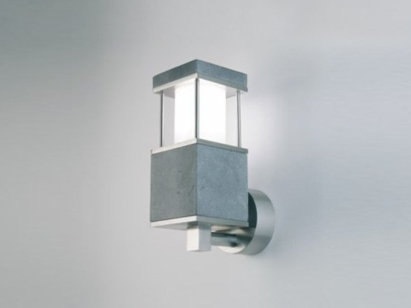Direct-indirect light stainless steel Outdoor wall Lamp STRIDA KD by BEL-LIGHTING