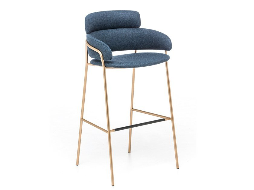 High fabric stool with back STRIKE ST | Fabric stool by arrmet