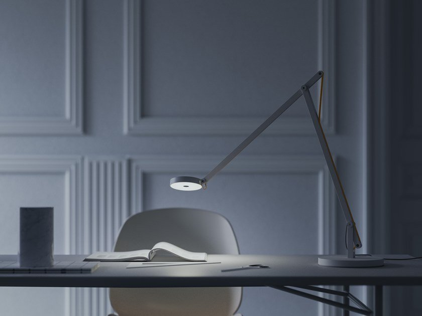 LED adjustable table lamp STRING DTW by Rotaliana